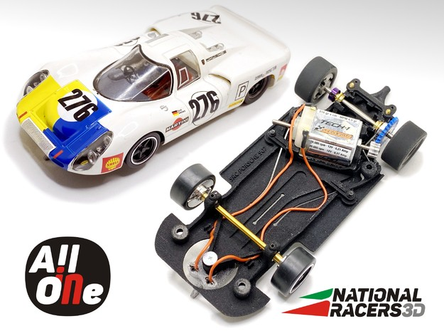 Chassis for SRC PORSCHE 907 (AiO-S_AW) in Black PA12