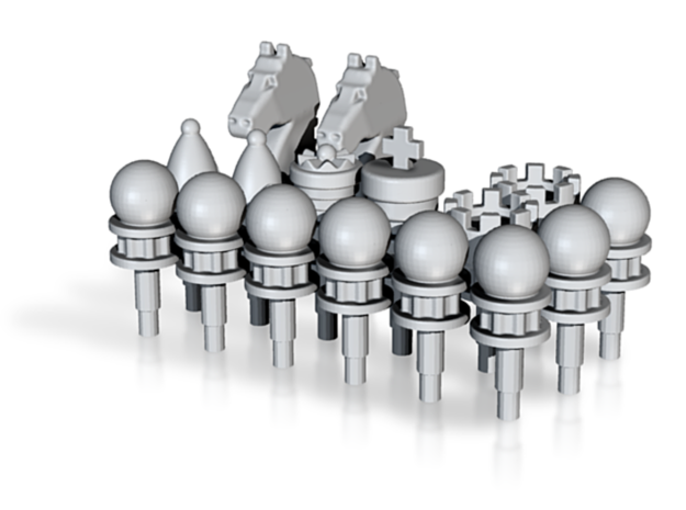 Chess Toppers 16 in White Natural Versatile Plastic