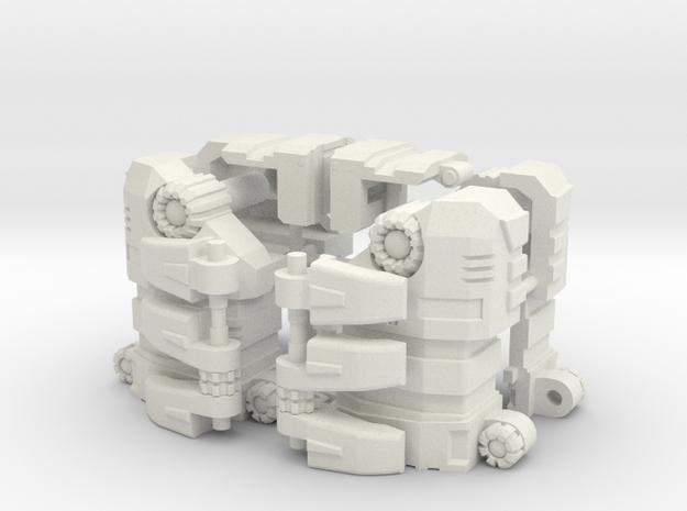 Non-Combining Forearms for PotP Grimlock in White Natural Versatile Plastic
