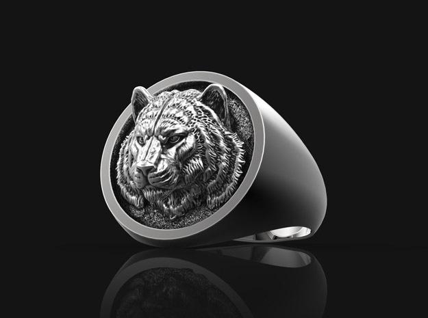 Tiger Ring No.1_13 US in Antique Silver