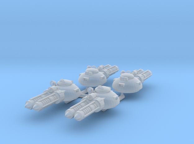 Laser Turrets 4 pack in Smooth Fine Detail Plastic