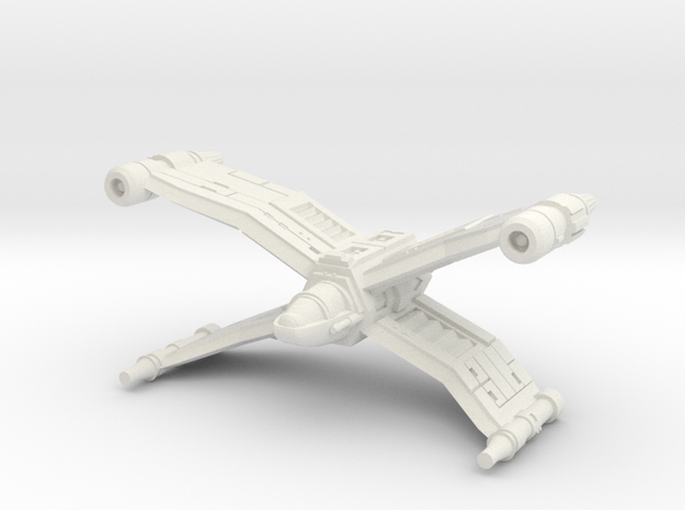Crosswing Superiority Fighter Wide Version in White Natural Versatile Plastic