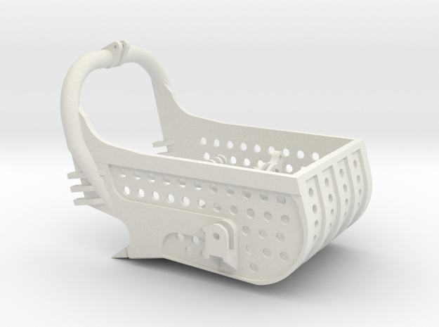 dragline bucket 7cuyd, with holes - scale 1/50 in White Natural Versatile Plastic