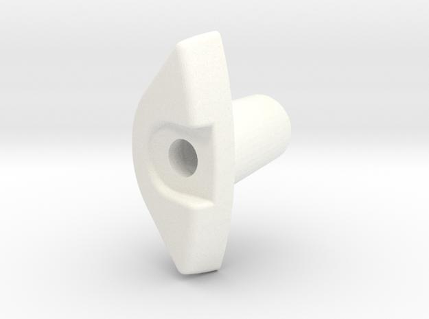 cad 59 fog light lens corner, thick in White Processed Versatile Plastic