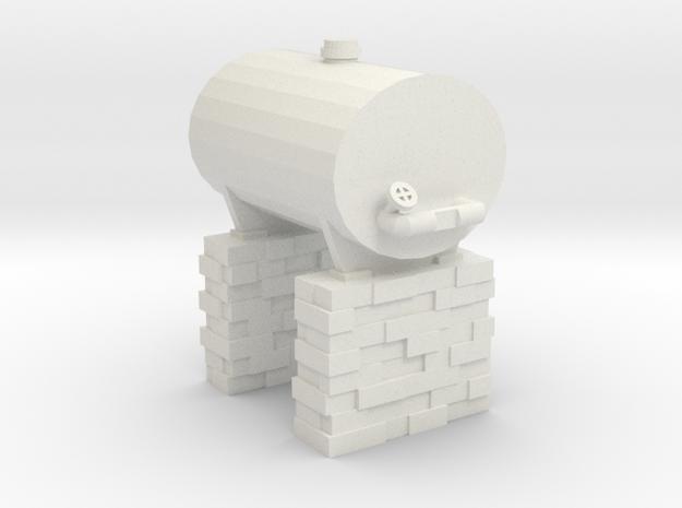 Bandai Scale Fuel Tank in White Natural Versatile Plastic