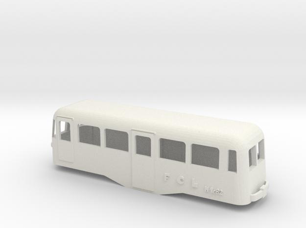 FCL M1c82 Ranieri in H0 in White Natural Versatile Plastic