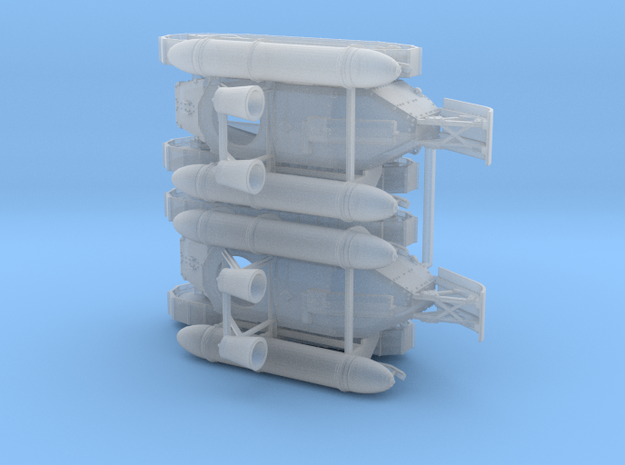 1/87th sclae (H0) 2 x Smoke generator tank in Smooth Fine Detail Plastic