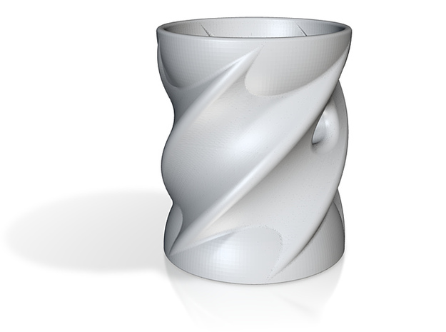 A twisted cup but with a hole lot of fun 3d printed