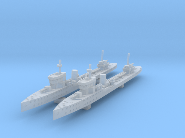 1/1250 Psilander Class Destroyer x2 in Smooth Fine Detail Plastic