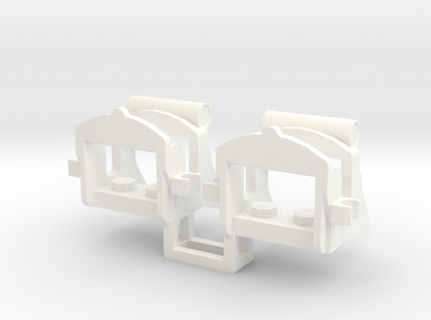 2 x Napoleonic Saddle in White Processed Versatile Plastic