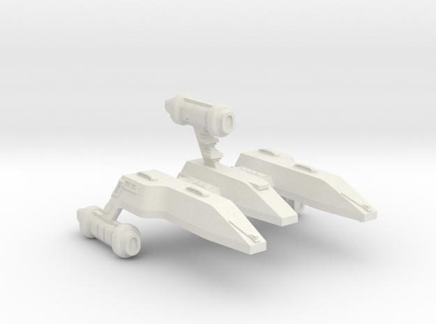 3788 Scale Lyran X-Ship Advanced Light Cruiser in White Natural Versatile Plastic