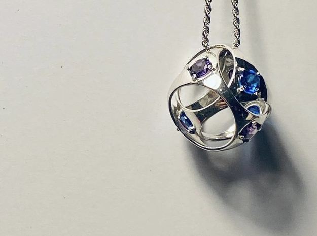 Entwined  in Polished Silver (Interlocking Parts)
