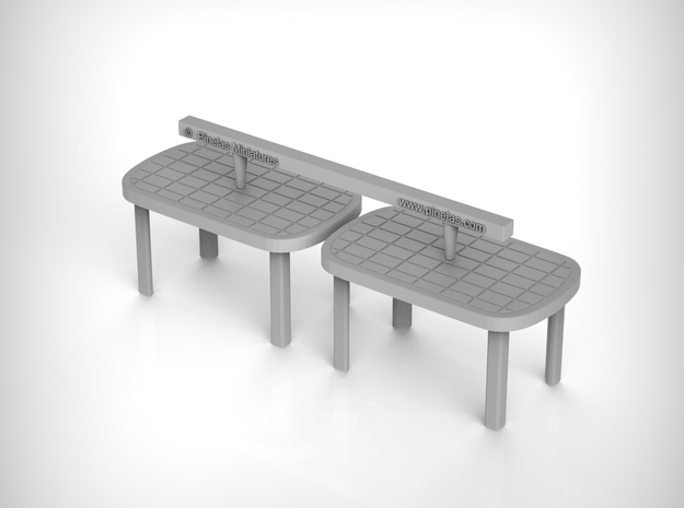 Plastic Table 01. 1:48 Scale in Smooth Fine Detail Plastic