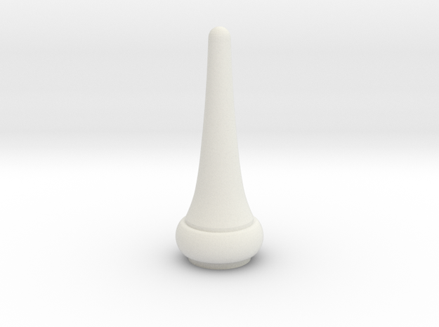 Signal Semaphore Finial Pointed Cone 1:22.5 scale in White Natural Versatile Plastic