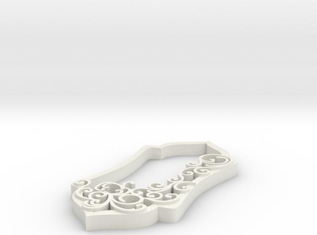 final final swirl pendant in White Natural Versatile Plastic