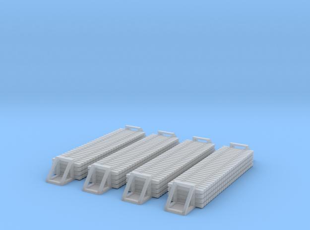 T Gauge Rail Ties Set of 4 in Smoothest Fine Detail Plastic