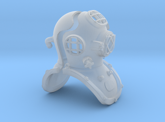 Diving Helmet 12th scale adaptation in Smooth Fine Detail Plastic