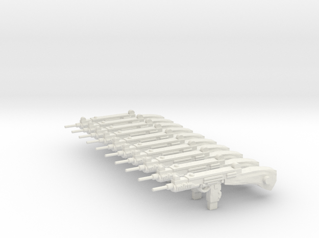 uzi52mm in White Natural Versatile Plastic