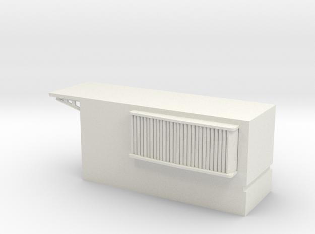 1/96 DKM Narvik-Klasse Z37 Forward Funnel Deck in White Natural Versatile Plastic