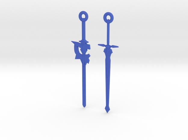 Dual Kirito Swords in Blue Processed Versatile Plastic