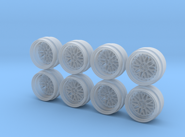 BBS LM Step 9 Hot Wheels Rims in Smooth Fine Detail Plastic