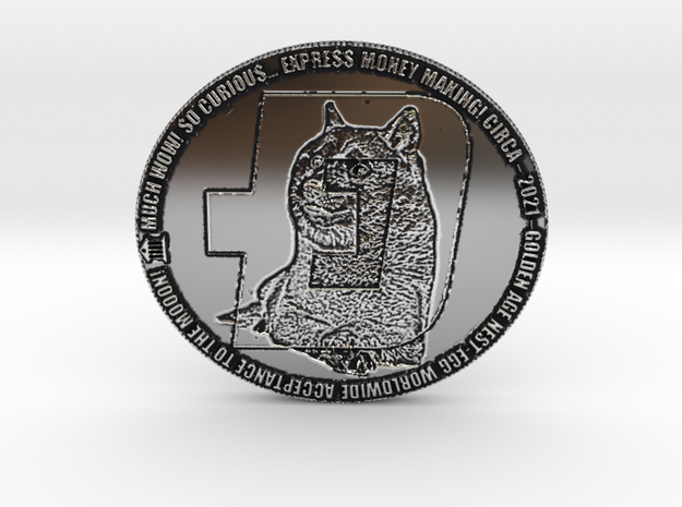 O.D. ORIGINAL DOGECOIN! MUCH WOW! TO THE MOOON! in Antique Silver