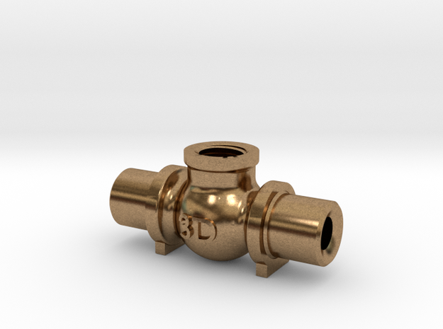 Globe Valve Body 180 - 1/4' x ME in Raw Brass