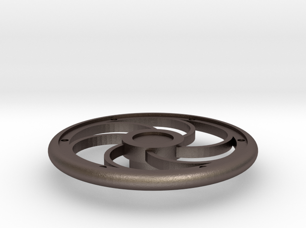 "1.5"" Scale Brake Wheel #1 in Polished Bronzed-Silver Steel"