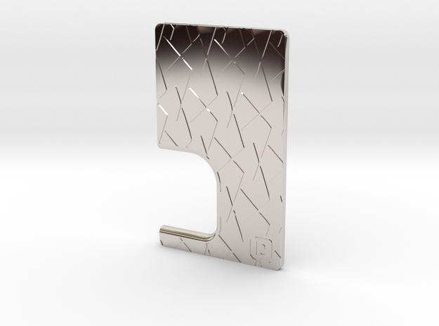 SHATTR3D Mech Squonk Door in Rhodium Plated Brass
