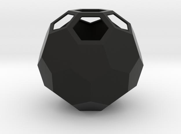 lawal 162 mm truncated icosahedron  in Black Natural Versatile Plastic