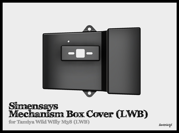 Simensays Mechanism Box Cover :: LWB Wild Willy in Black Natural Versatile Plastic