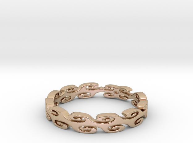 Lehi Swirl (Size 6.5) in 14k Rose Gold
