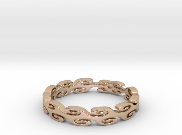 Lehi Swirl (Size 6.5) in 14k Rose Gold