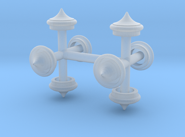 Finial Round Point 1:87 scale Pack in Smooth Fine Detail Plastic