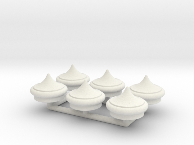 Finial Round Point 1:19 Pack in White Natural Versatile Plastic