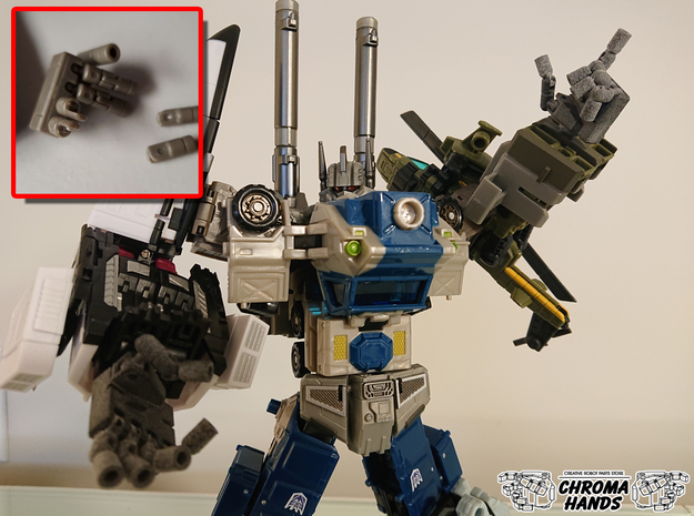 Fansproject Bruticus Hand Replacement in Gray PA12
