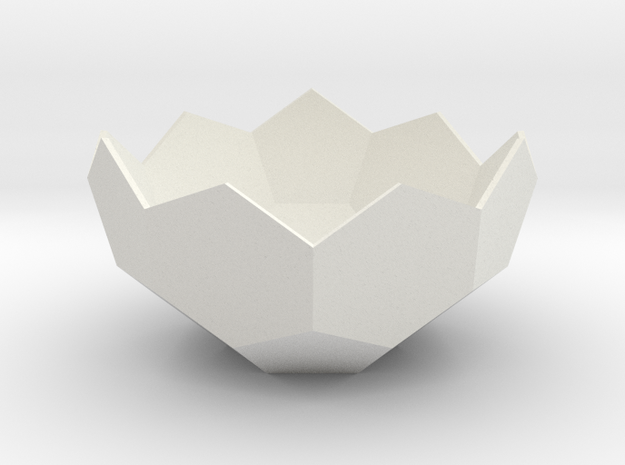 Lawal Truncated Icosahedron shell section in White Natural Versatile Plastic