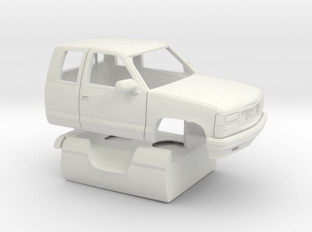 1/25 1989-98 GMC Sierra Ext Cab Regular Bed Shell in White Natural Versatile Plastic