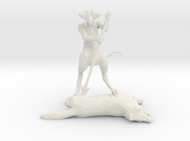 Ice Devil Miniature in White Natural Versatile Plastic: 28mm