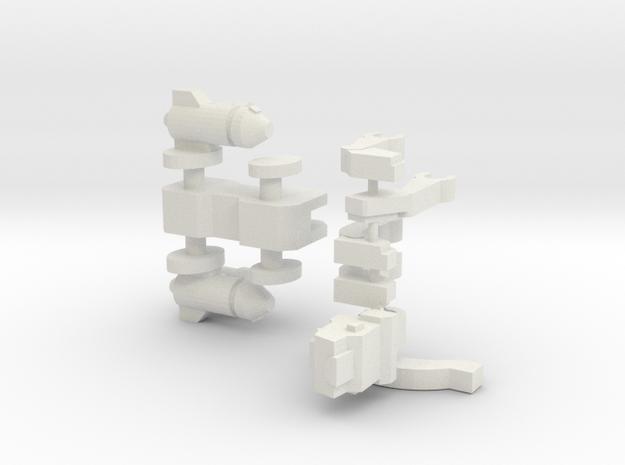 Articulated Jagwarrior (50% bigger) in White Natural Versatile Plastic