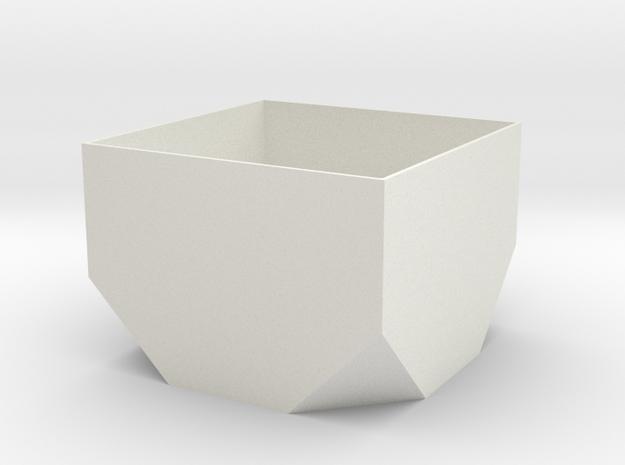lawal 65 mm truncated cube basics section 1  in White Natural Versatile Plastic