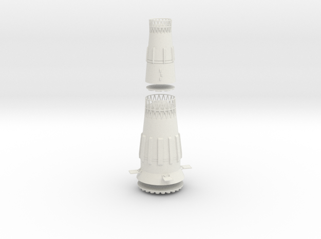 1/200 N-1 SOVIET MOON ROCKET 1ST & 2ND STAGES in White Natural Versatile Plastic