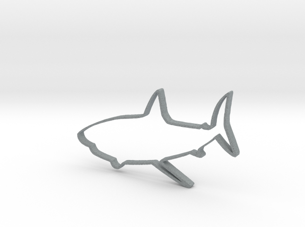 Shark Outline Necklace Pendant 3d printed