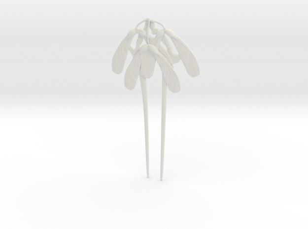 Gaillard Maple Seed Hair Pin in White Natural Versatile Plastic