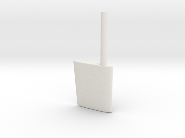 SBootwingrudder20th in White Natural Versatile Plastic