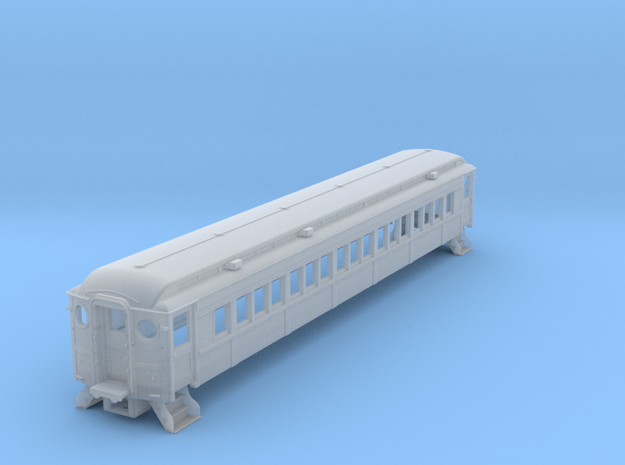N-scale (1/160) PRR P54 Passenger Car without Grab in Smooth Fine Detail Plastic