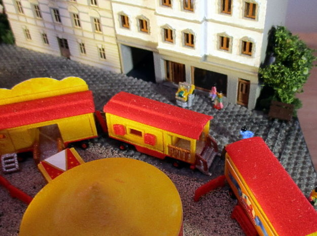 reisendes Puppentheater - 1:220 (Z scale) in White Natural Versatile Plastic