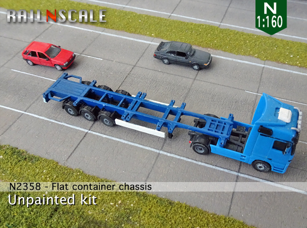 Flat container chassis (N 1:160)