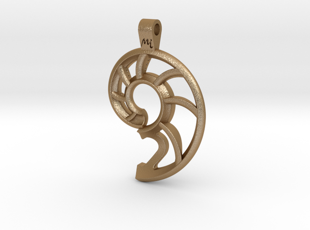 Nautilus Shell Keychain 3d printed