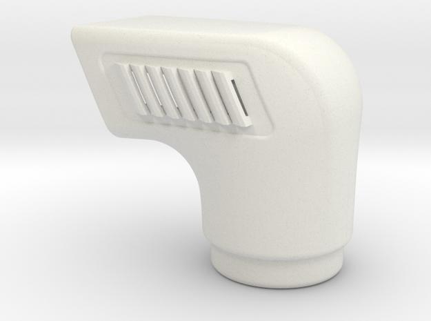 Ram-air-intake-snorkel in White Natural Versatile Plastic